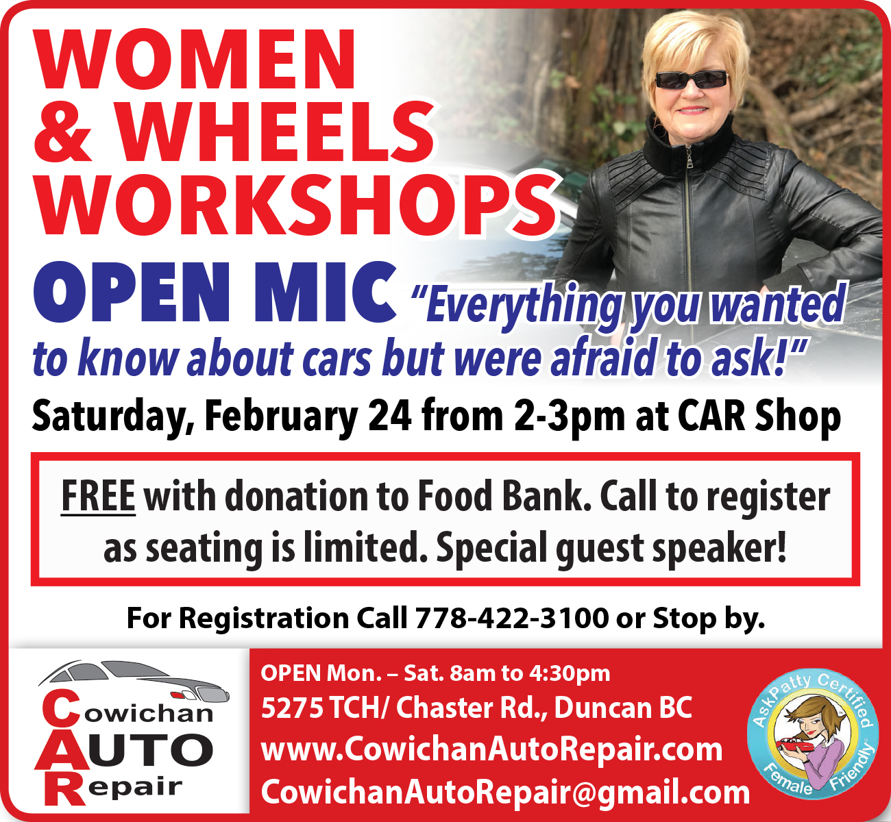 Women & Wheels Workshops - Everything you wanted to know about cars but were afraid to ask